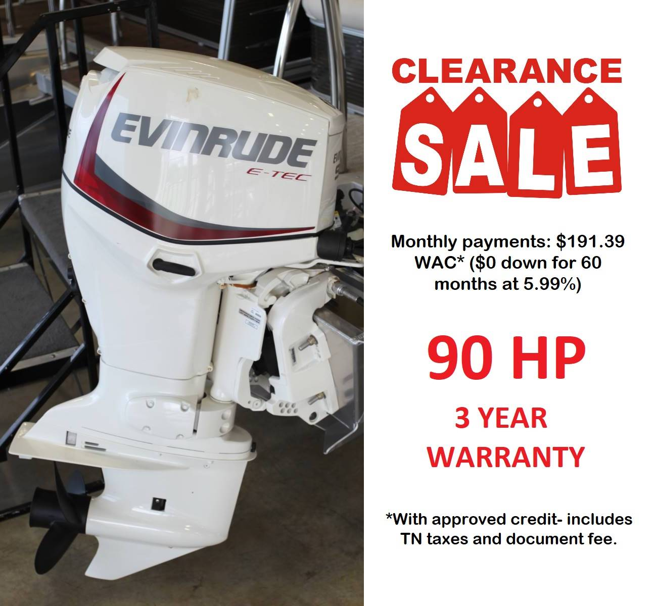 Evinrude E90DSLAF in Memphis, Tennessee - Photo 1