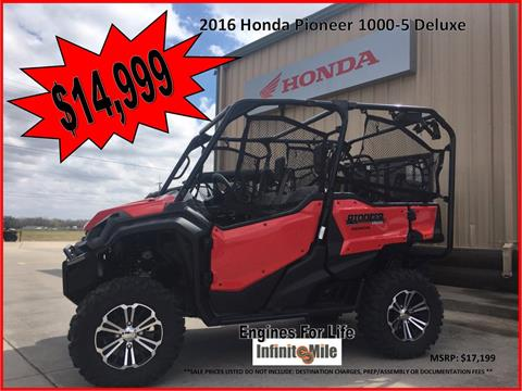 2016 Honda Pioneer 1000-5 Deluxe in Chickasha, Oklahoma