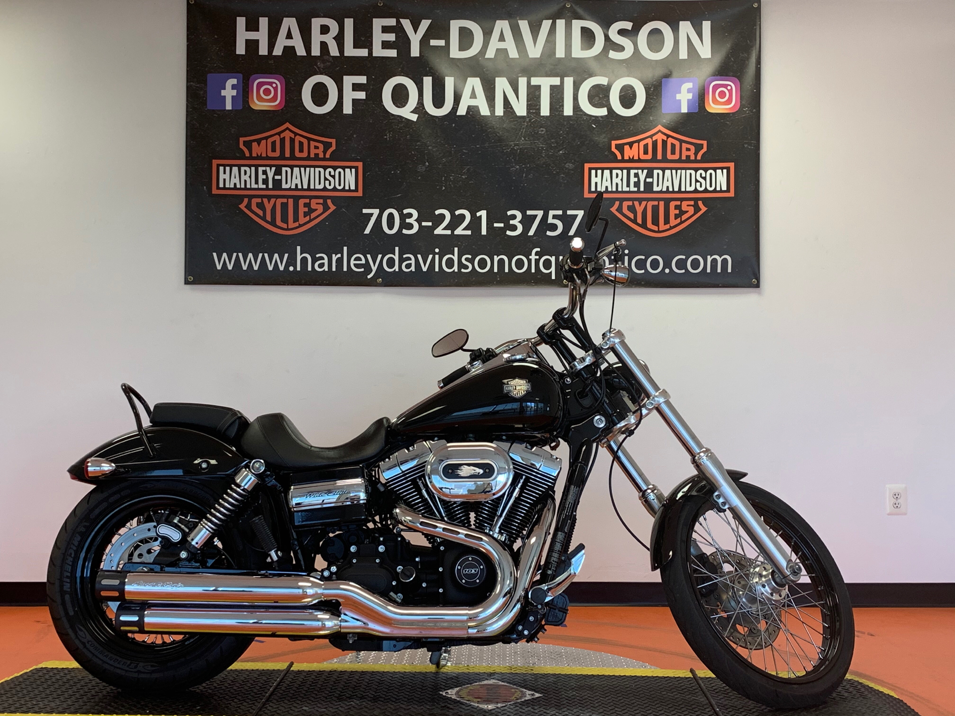 Used 2012 Harley Davidson Dyna Wide Glide Vivid Black Motorcycles In Dumfries Va 305007