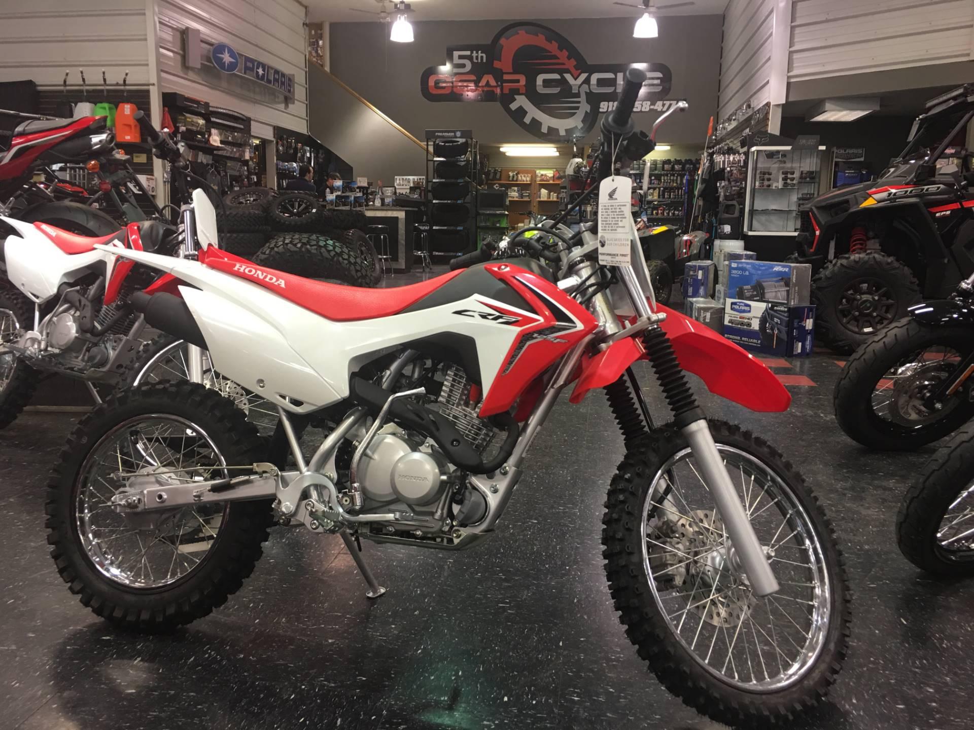 New 2018 Honda CRF125F Motorcycles in Broken Arrow, OK Outside the Tulsa Metro | Stock Number ...