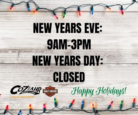 NEW YEARS EVE HOLIDAY HOURS
