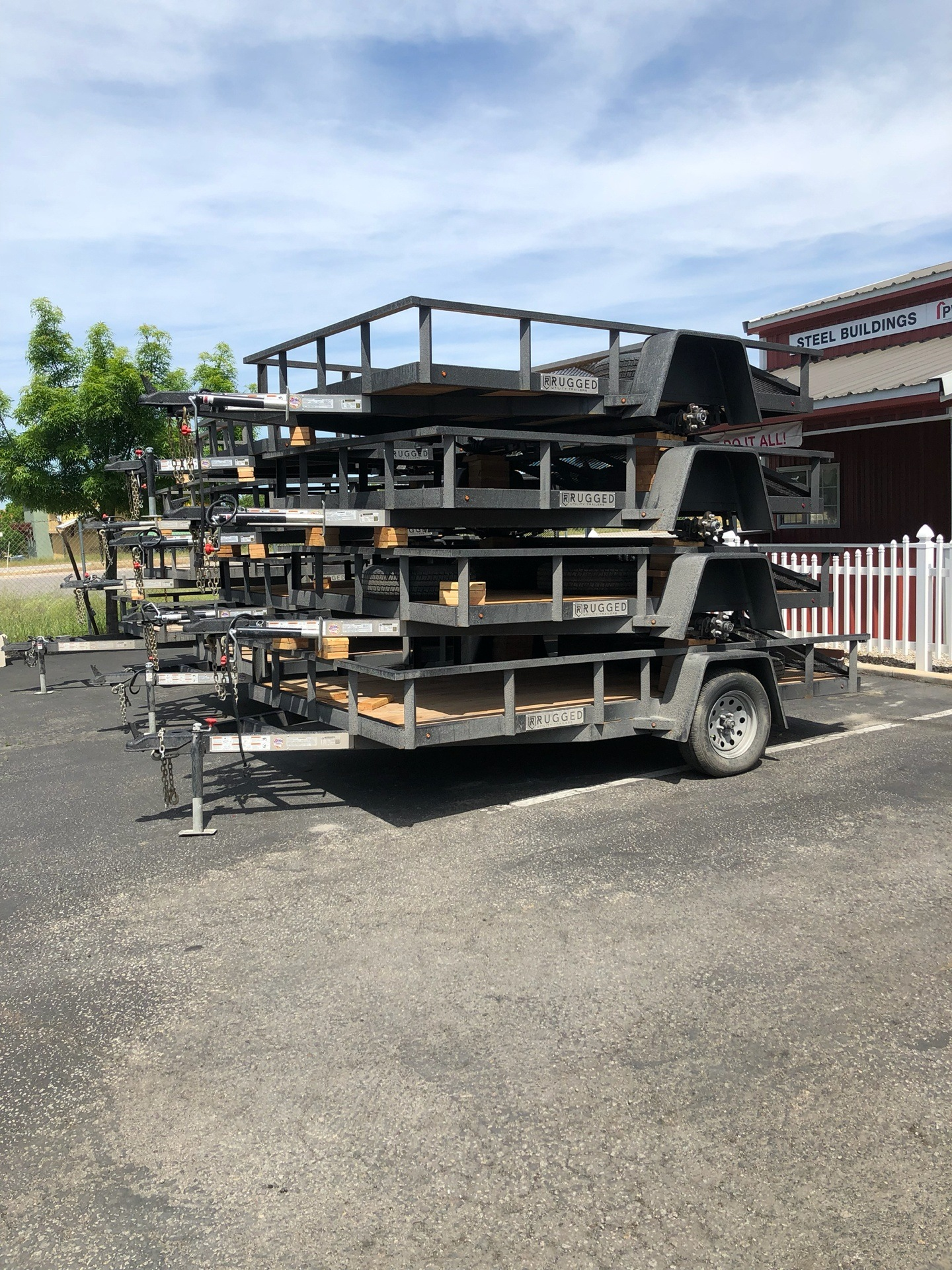 2019 Charmac Trailers 16' X 7' STEEL UTILITY TA in Paso Robles, California