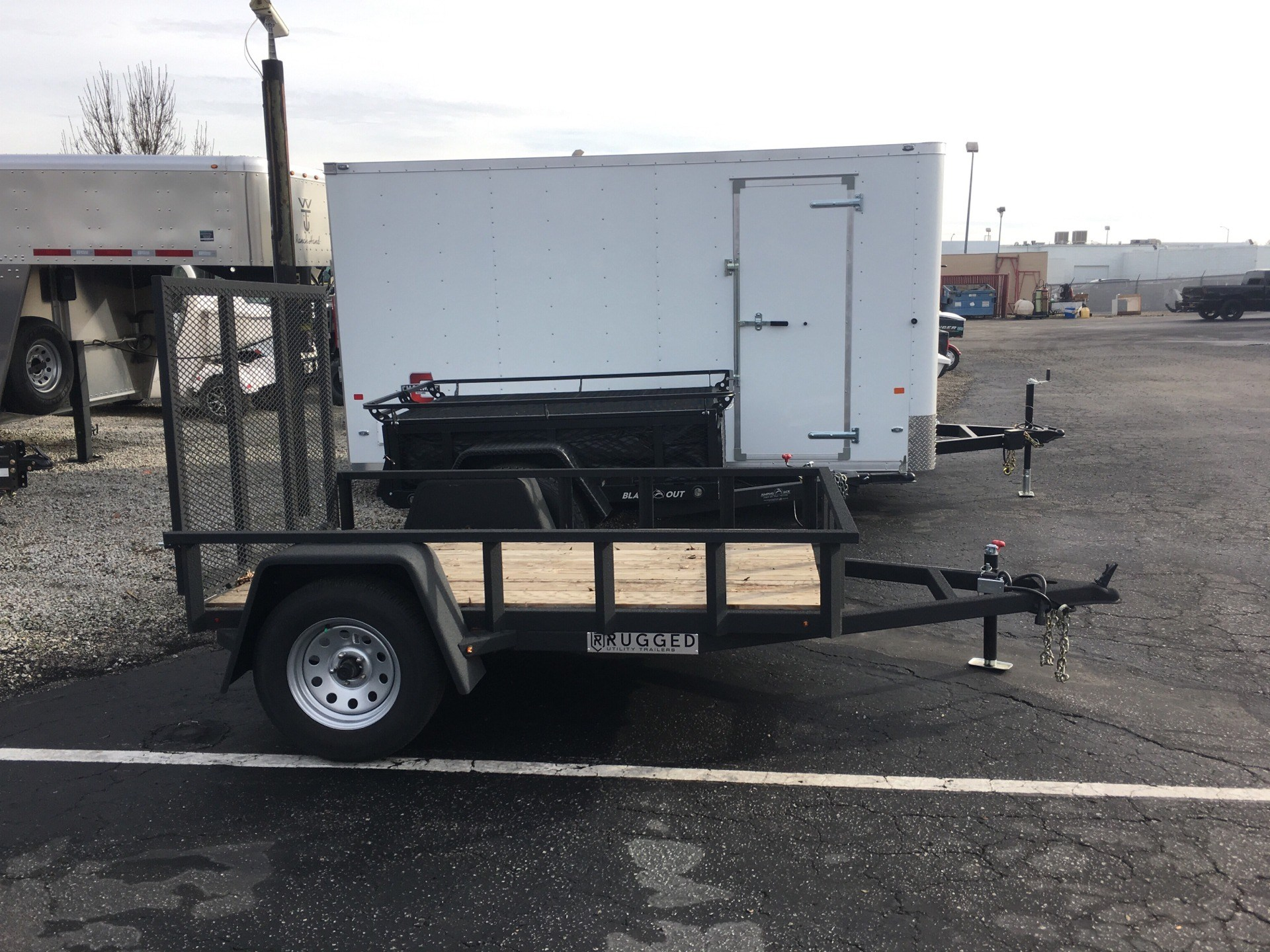 2018 Charmac Trailers 8' X 5' RUGGED STEEL UTILITY TRAILER in Paso Robles, California