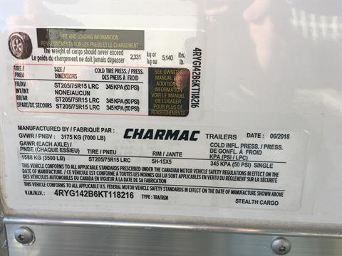 2019 Charmac Trailers 14' X 7' STEATH CARGO TRAILER in Paso Robles, California