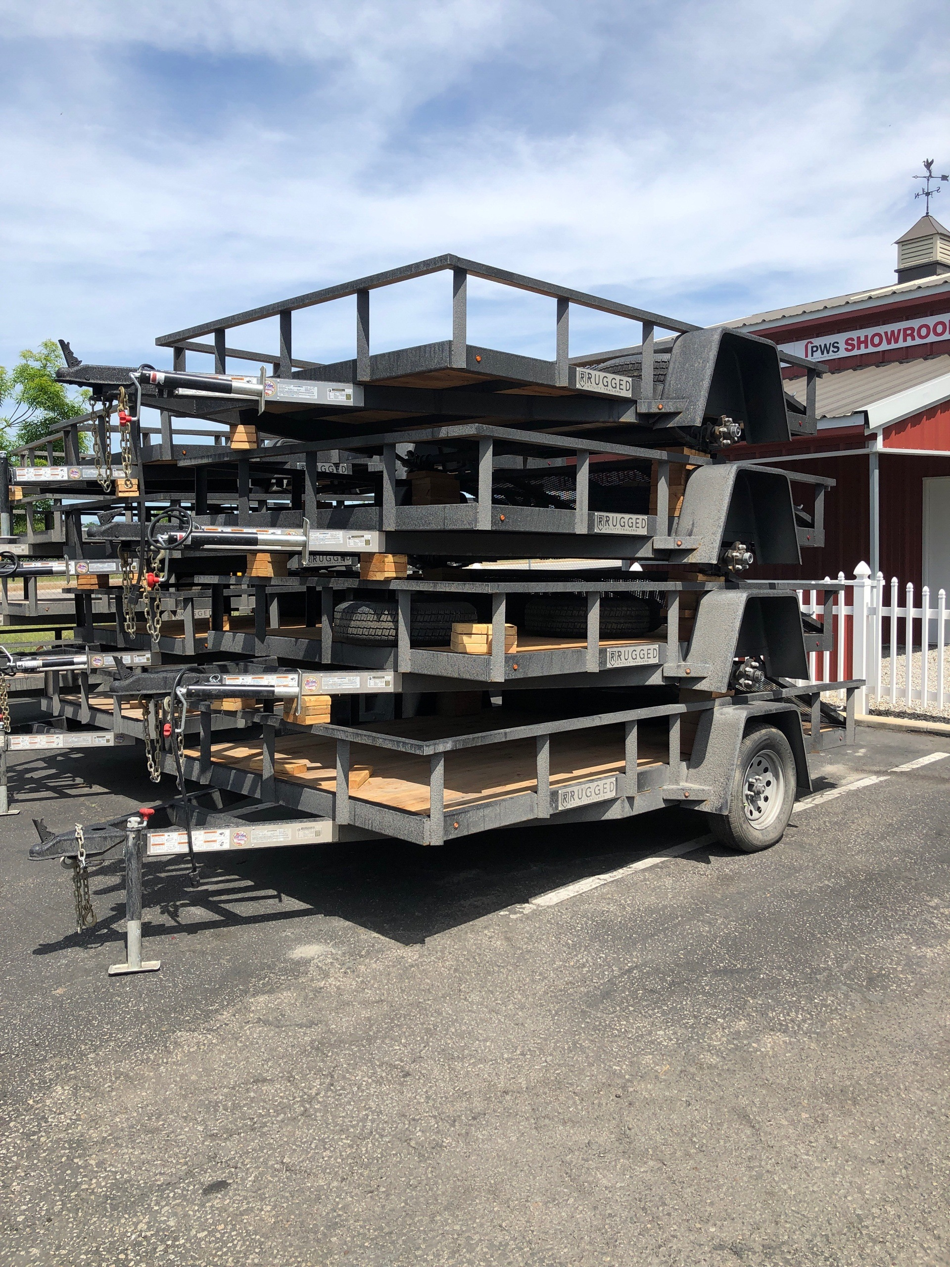 2019 Charmac Trailers 10' X 7' STEEL UTILITY SA in Paso Robles, California - Photo 5