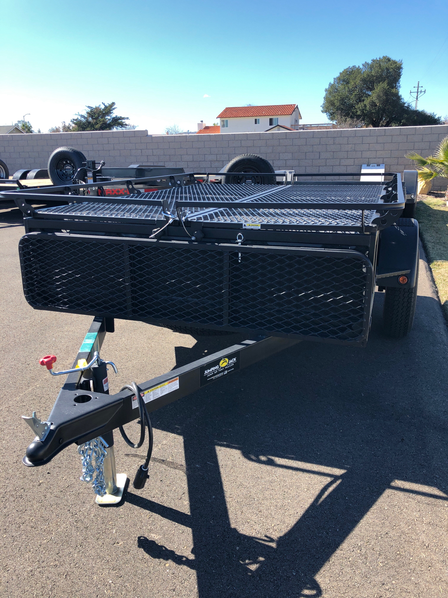 2021 JUMPING JACK TRAILERS  6' X 8' UTILITY W/ SPARE in Paso Robles, California - Photo 1