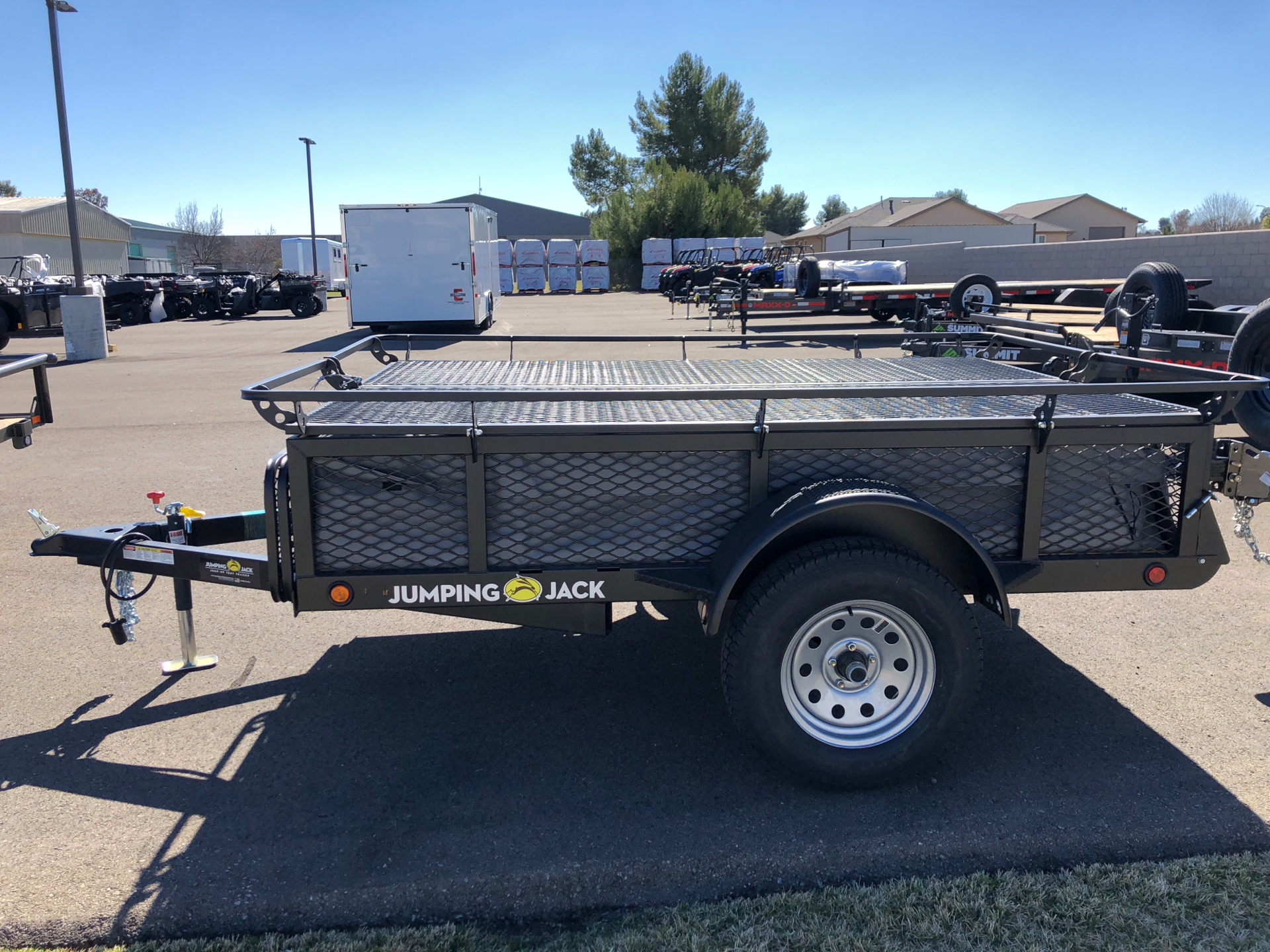 2021 JUMPING JACK TRAILERS  6' X 8' UTILITY W/ SPARE in Paso Robles, California - Photo 2