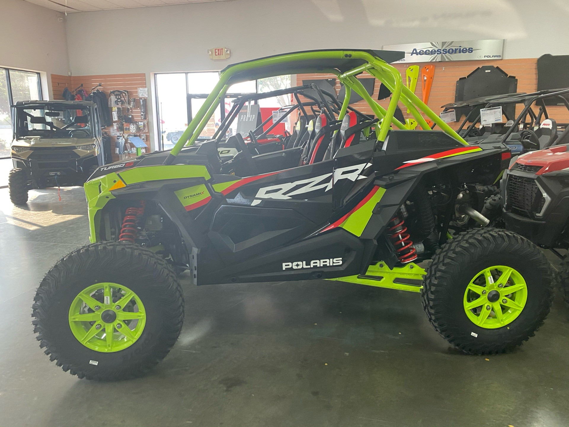 2021 Polaris RZR Turbo S Lifted Lime LE in Paso Robles, California - Photo 4