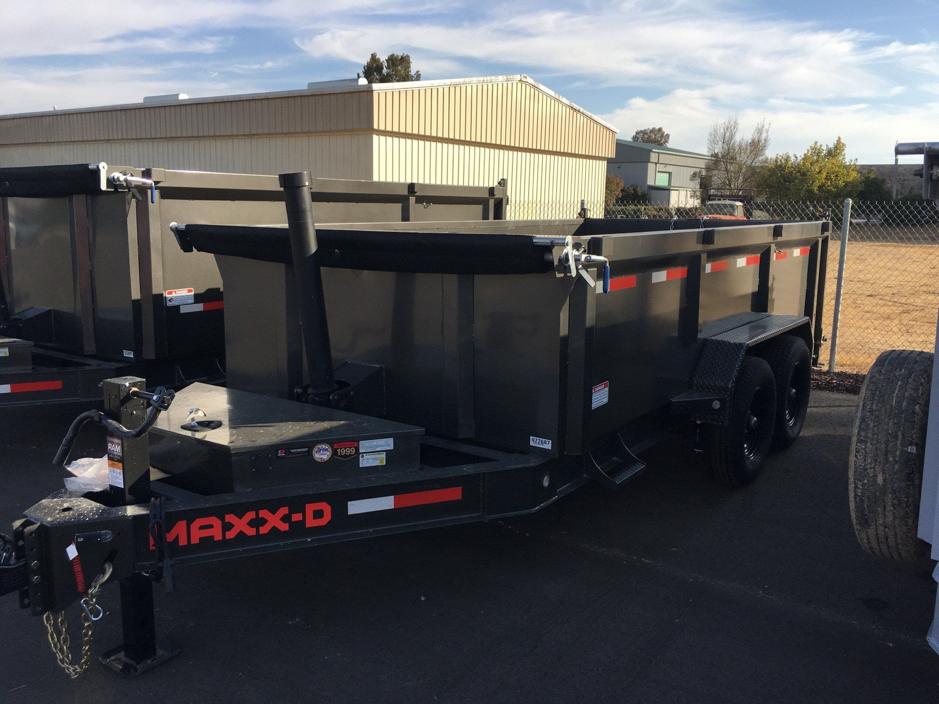 "2021 MAXXD TRAILERS 14' X 83"" TELESCOPING DUMP TRAILER in Paso Robles, California"