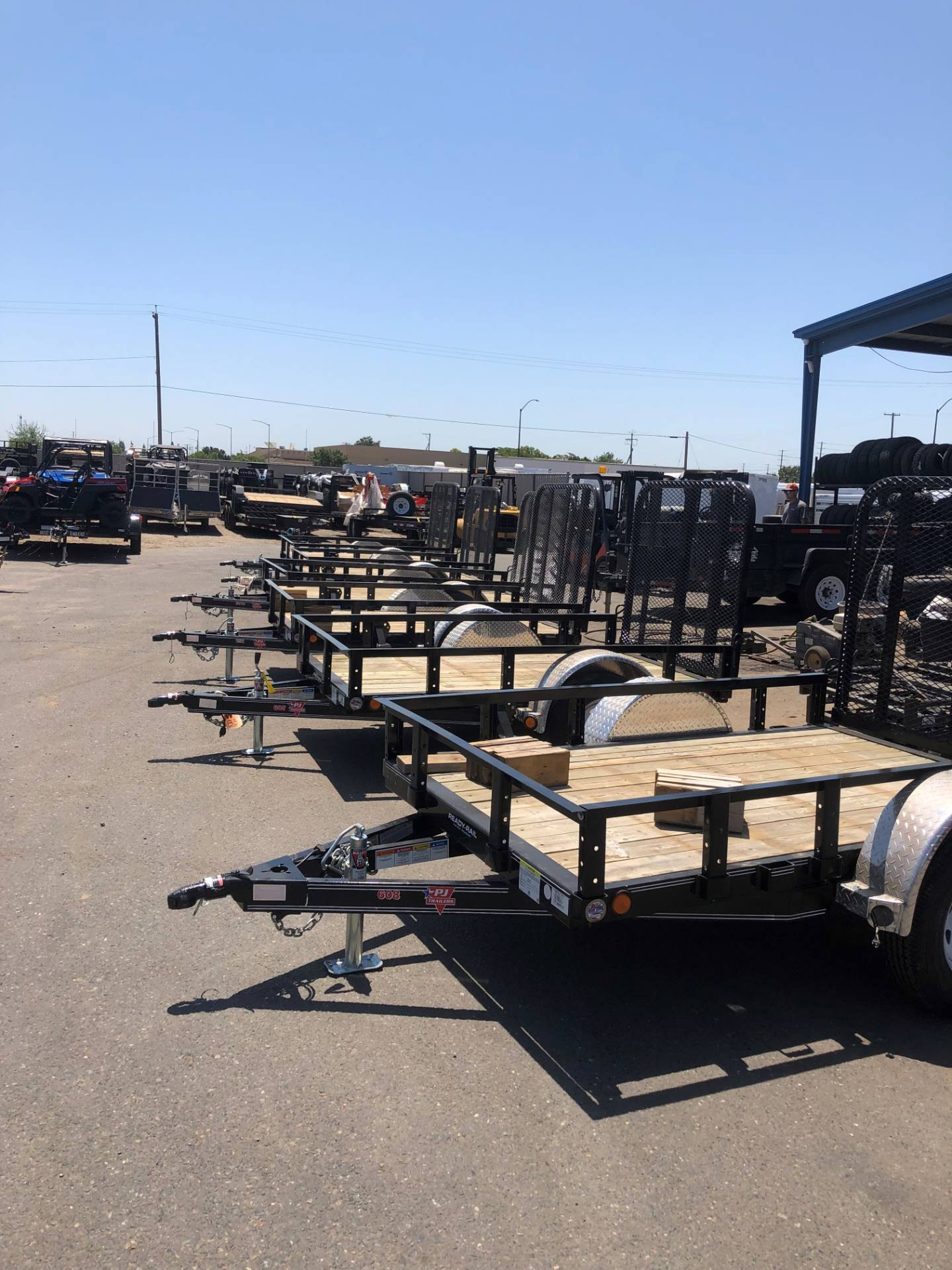 "2019 PJ Trailers 8' X 60"" SA UTILITY TRAILER in Elk Grove, California - Photo 2"