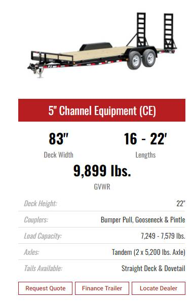 "2021 PJ Trailers 16' X 5"" CHANNEL EQUIPMENT in Elk Grove, California - Photo 15"