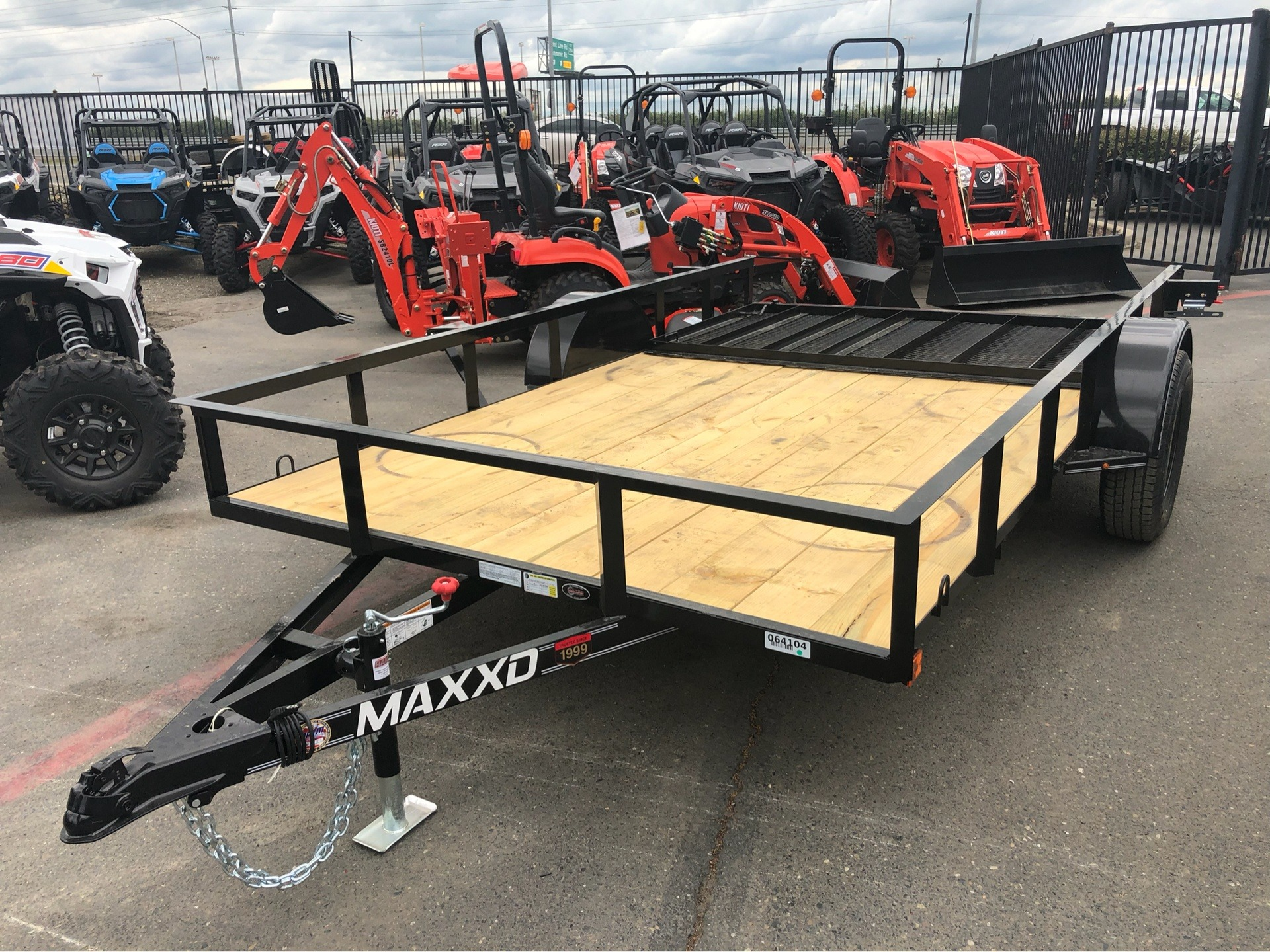 "2019 MAXXD TRAILERS 12' X 83"" SA UTILITY TRAILER in Elk Grove, California - Photo 1"