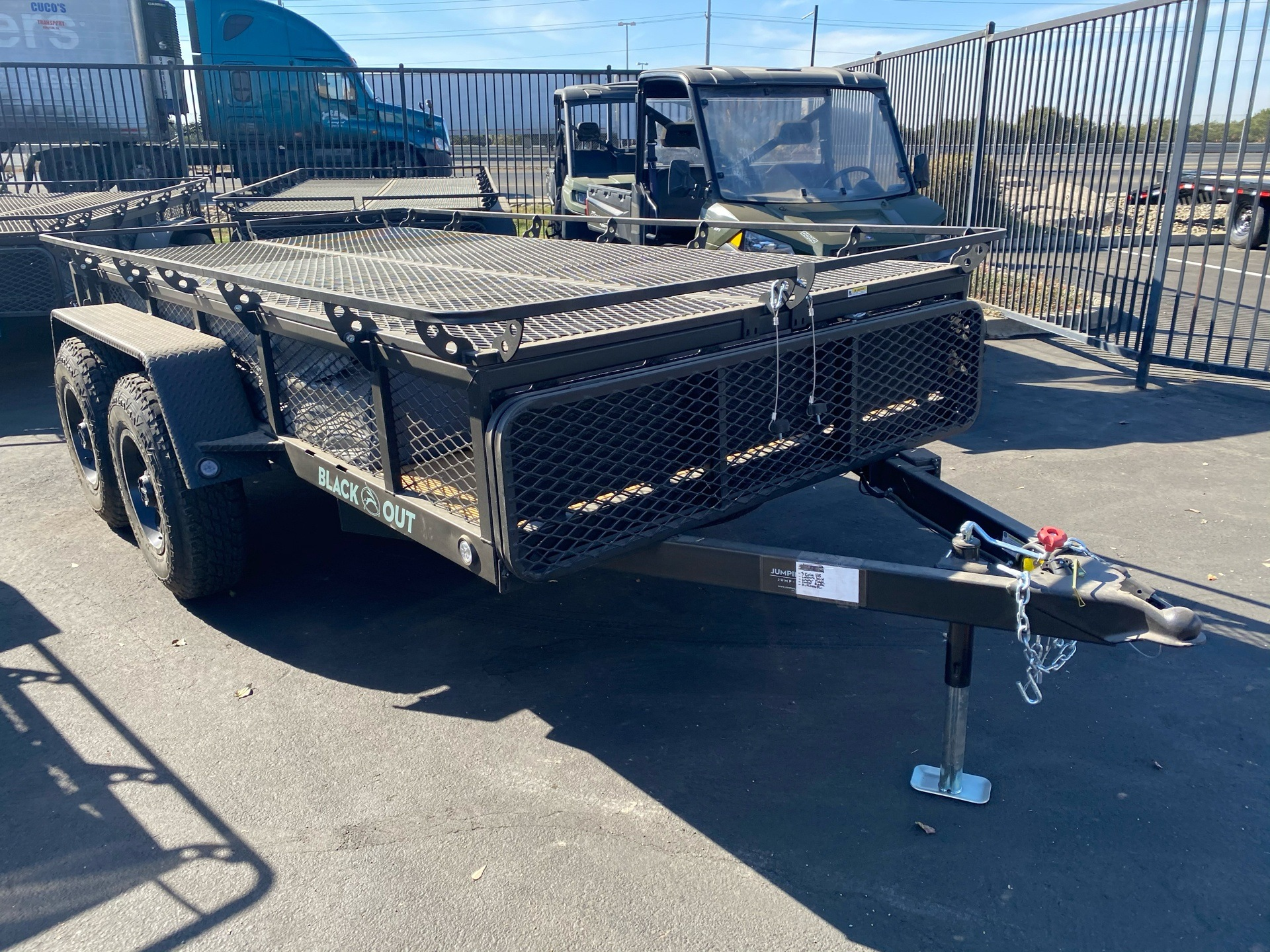 2021 Jumping Jack 6' X 12' BLACKOUT TRAILER W/ 12' TENT in Elk Grove, California - Photo 3