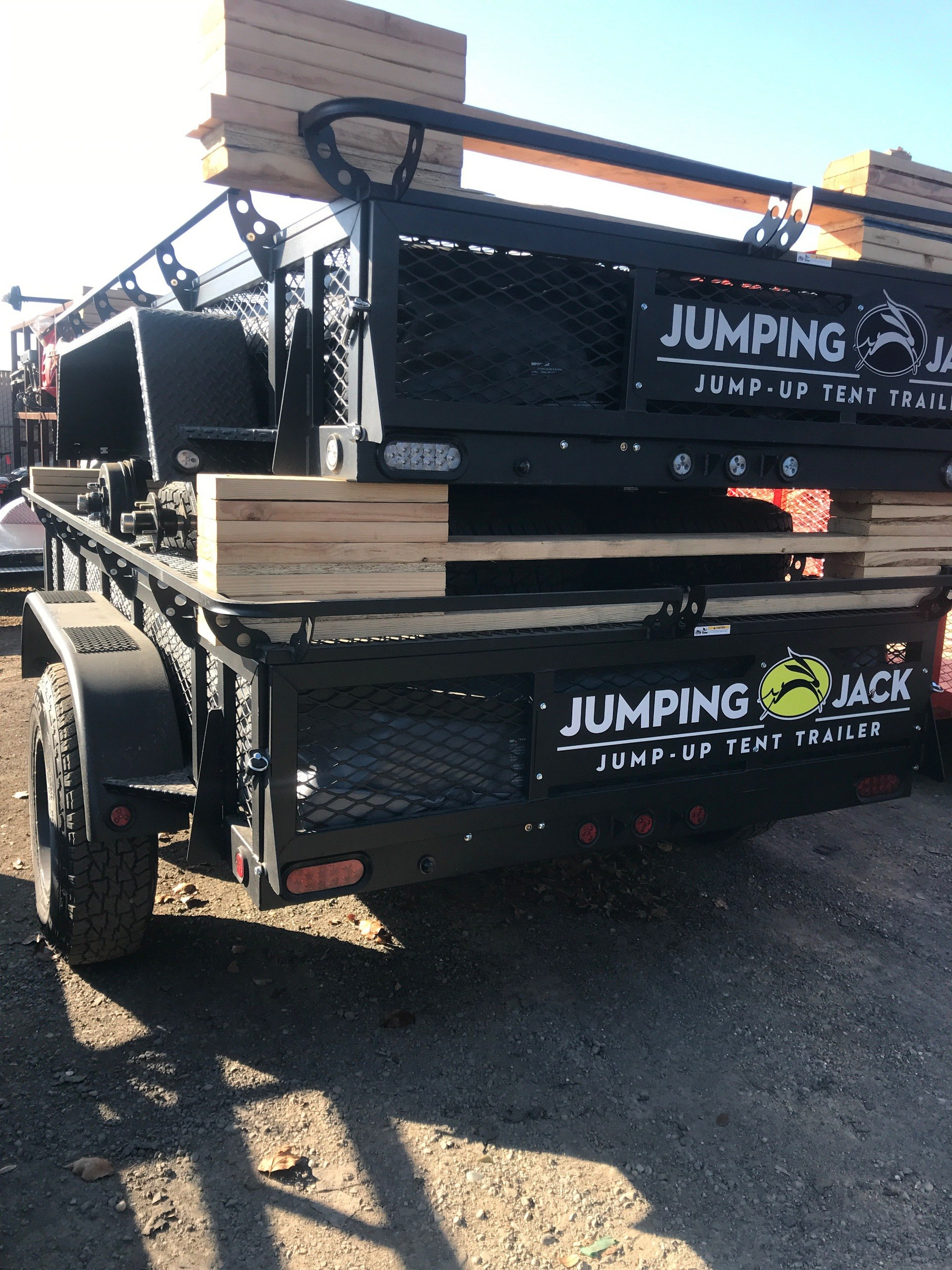 2018 Jumping Jack 6 X 12 BLACKOUT TRAILER W/ 12' TENT in Elk Grove, California