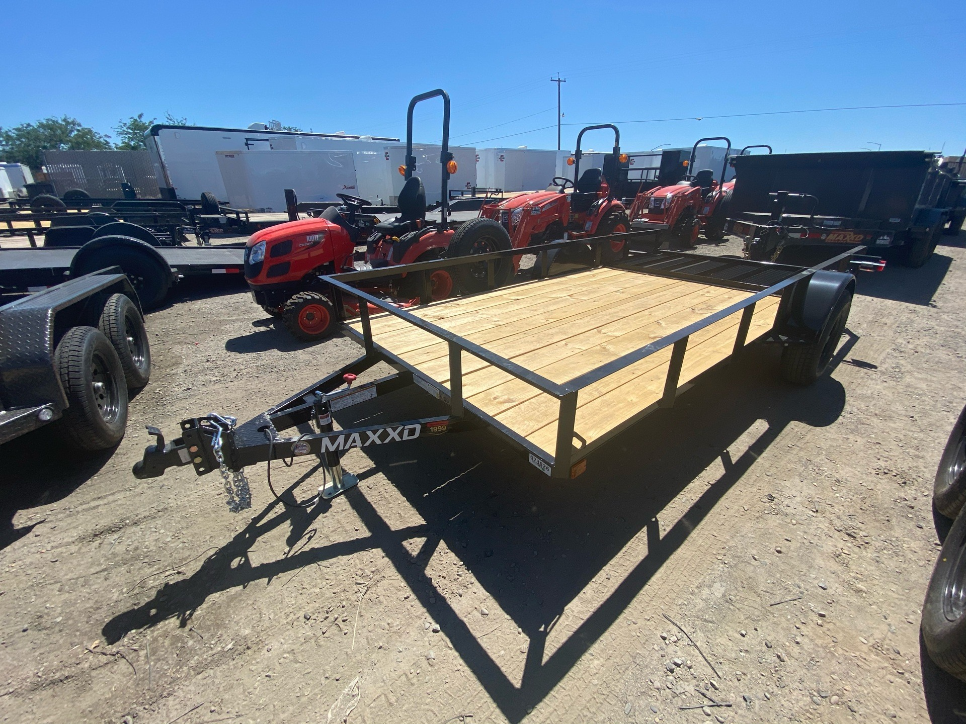 "2020 MAXXD TRAILERS 14' X 77"" SA UTILITY TRAILER in Elk Grove, California - Photo 1"