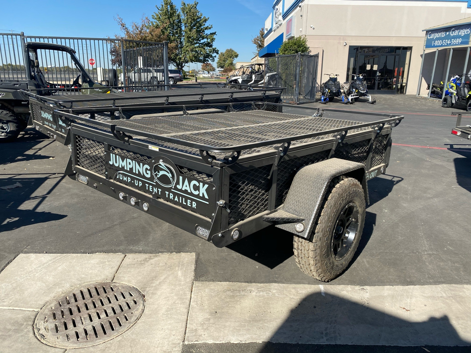 2021 Jumping Jack 6' X 8' BLACKOUT TRAILER W/ 8' TENT in Elk Grove, California - Photo 9