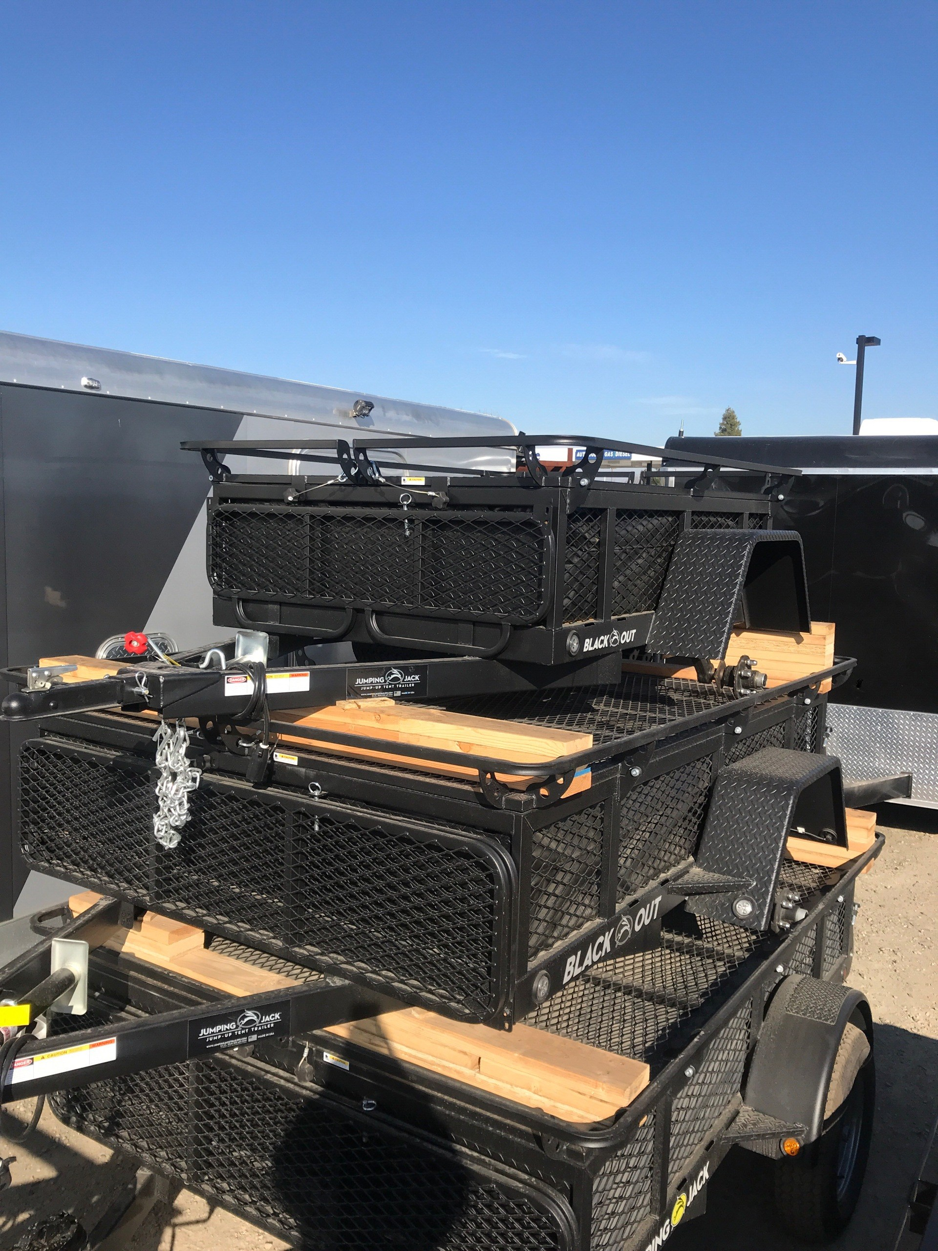 2018 Jumping Jack 4X6 BLACKOUT TRAILER W/ 6u0027 TENT in Elk Grove California & California Custom Trailers u0026 Power Sports u003e Showroom u003e Model Details