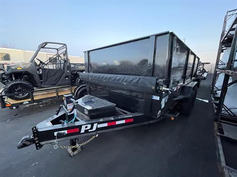 "2021 PJ Trailers 14' x 83"" LOW PRO DUMP TRAILER in Elk Grove, California - Photo 1"