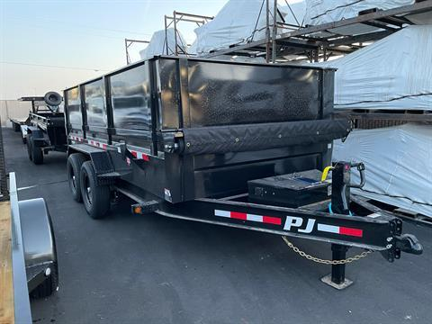 "2021 PJ Trailers 14' x 83"" LOW PRO DUMP TRAILER in Elk Grove, California - Photo 2"