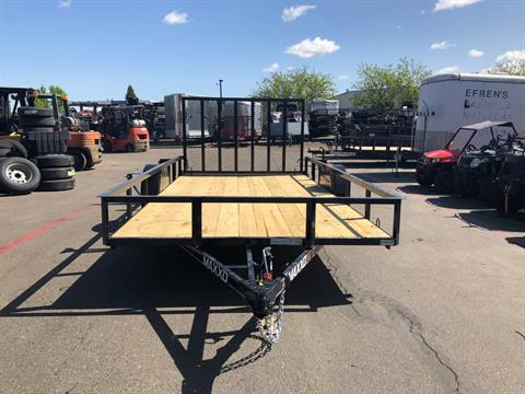 "2018 MAXXD TRAILERS 12' X 77"" SA WHITE SERIES UTILITY TRAILER in Elk Grove, California"
