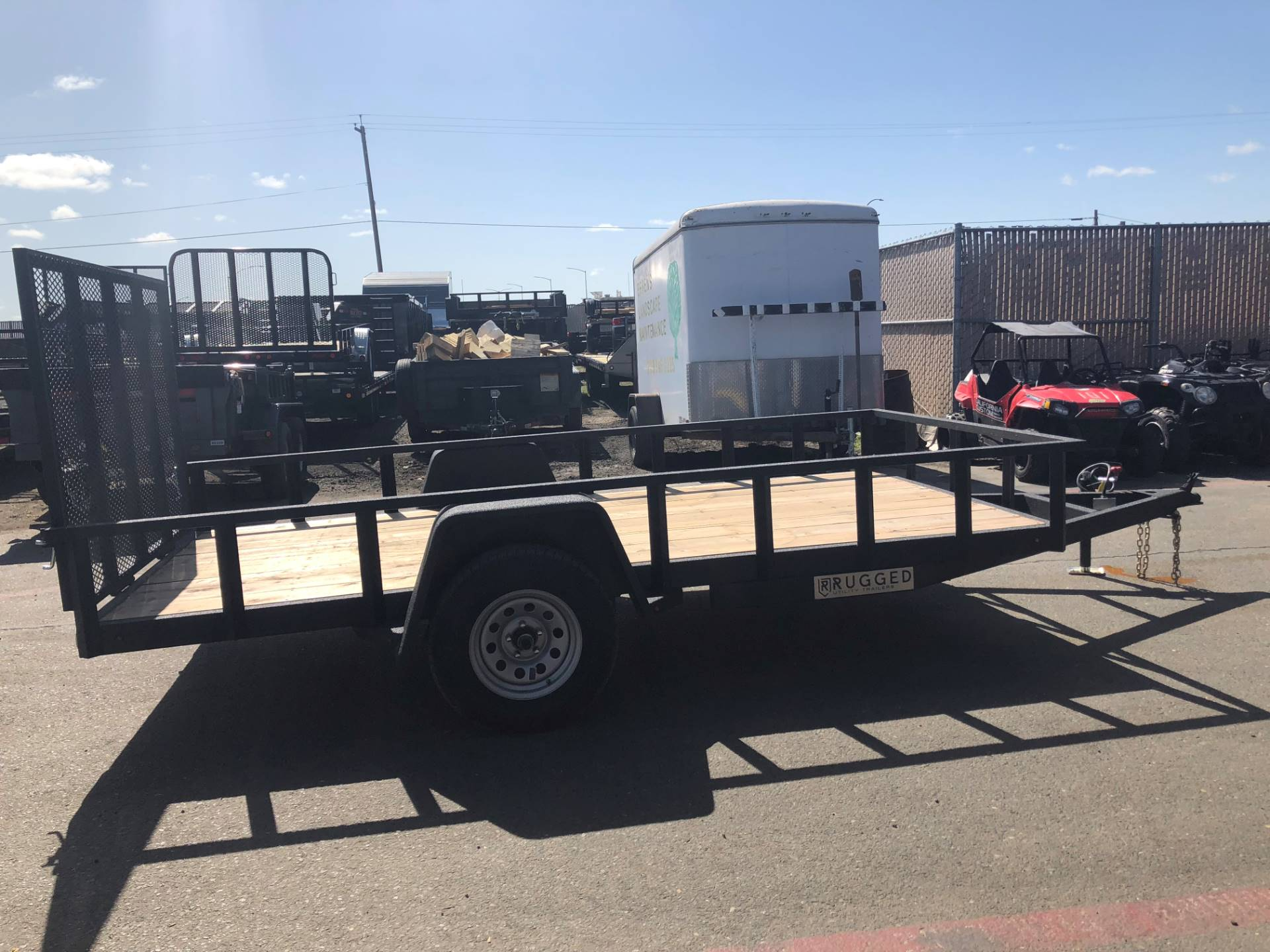 2019 Charmac Trailers 16' X 7' STEEL UTILITY  in Elk Grove, California - Photo 4