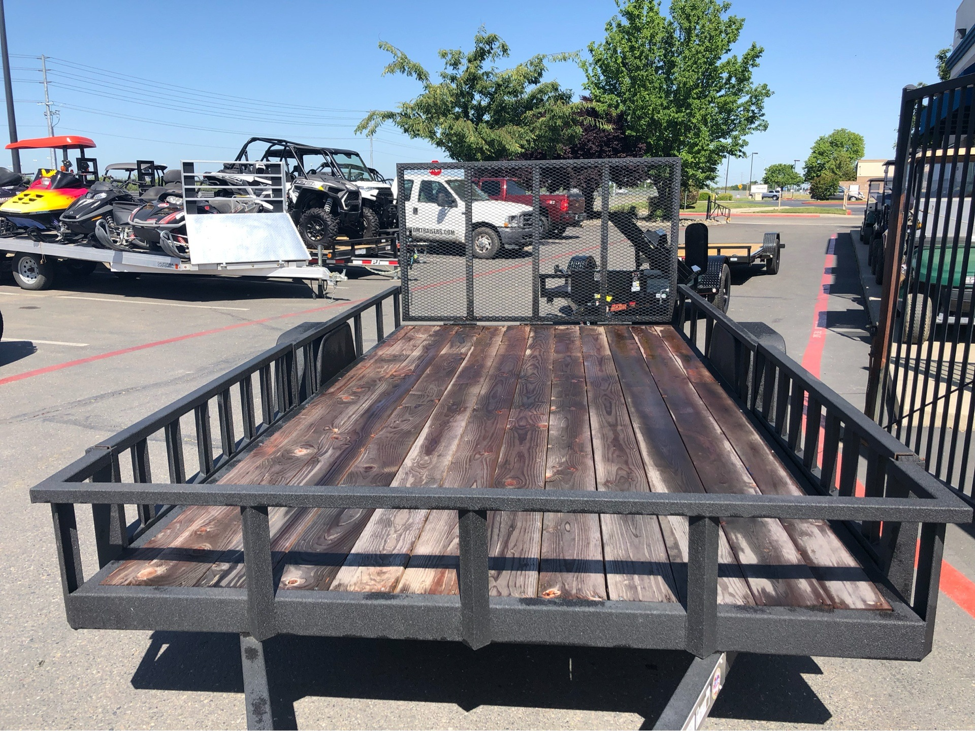 2019 Charmac Trailers 16' X 7' STEEL UTILITY  in Elk Grove, California - Photo 3
