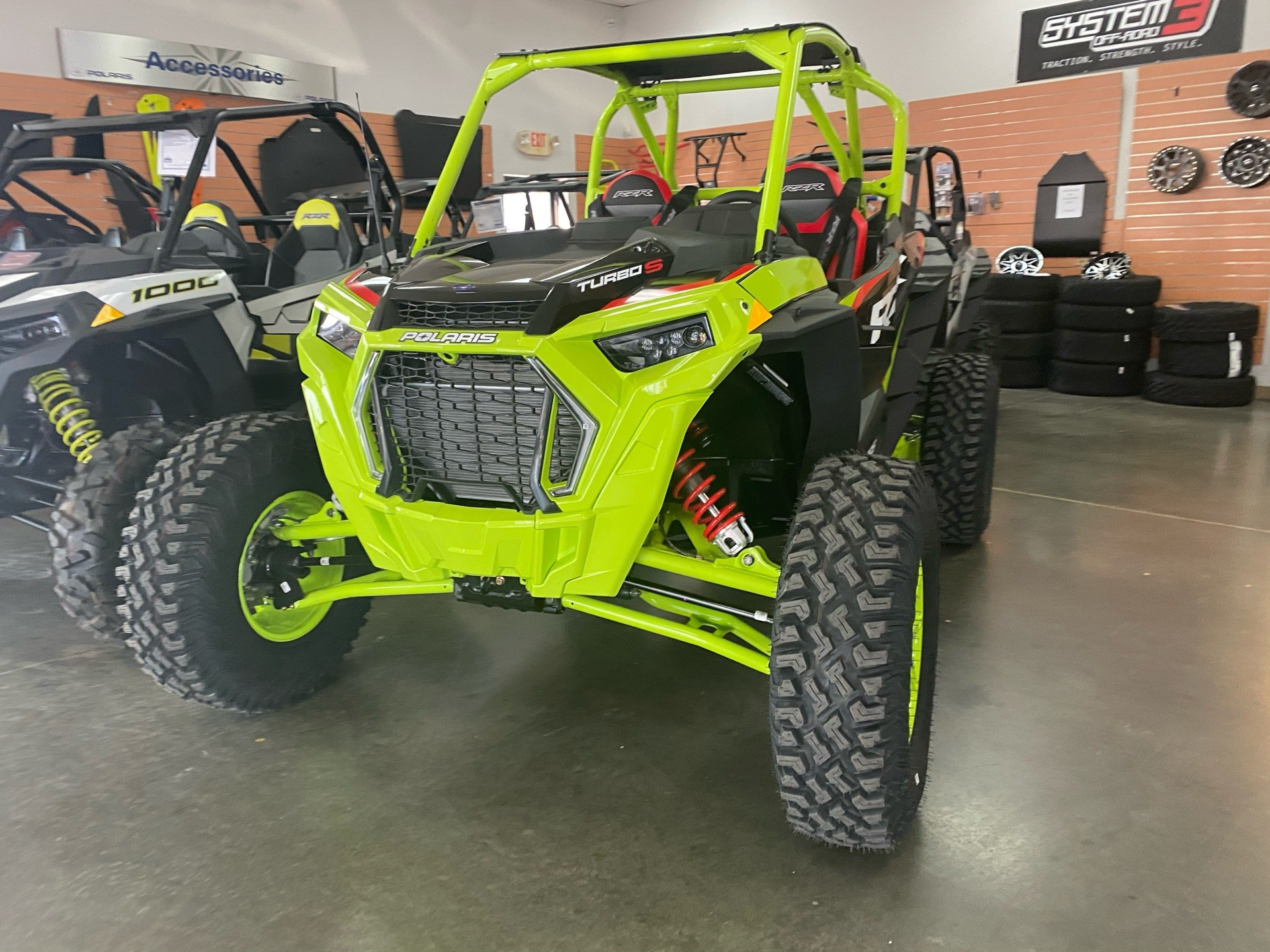 2021 Polaris RZR Turbo S Lifted Lime LE in Elk Grove, California - Photo 3