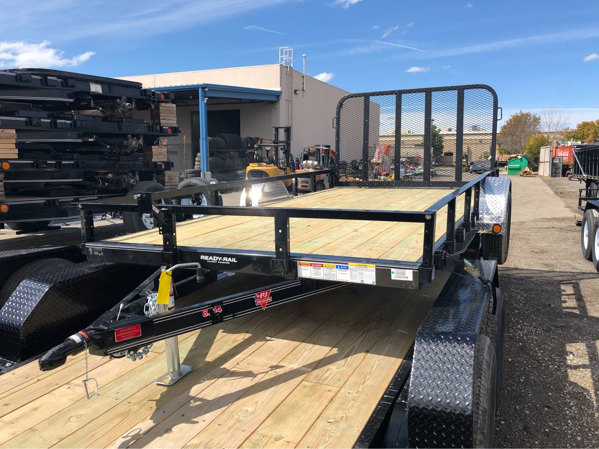 "2019 PJ Trailers 12' x 77"" SINGLE AXLE CHANNEL UTILITY in Elk Grove, California - Photo 1"