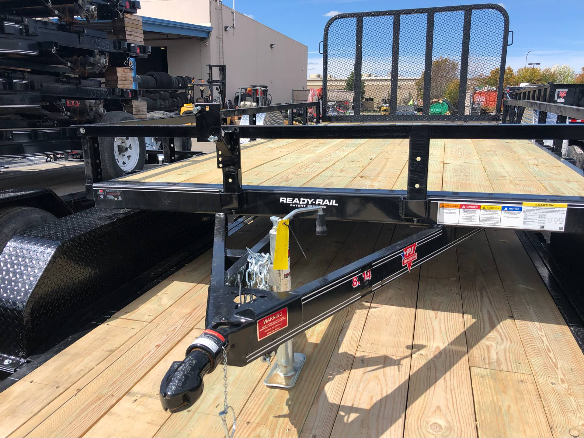 "2019 PJ Trailers 12' x 77"" SINGLE AXLE CHANNEL UTILITY in Elk Grove, California - Photo 2"
