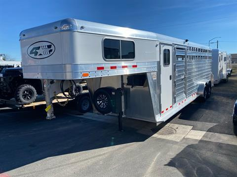 2022 4-STAR TRAILERS 7X24 DELUX STOCK COMBO W COWBOY TACK in Elk Grove, California - Photo 1