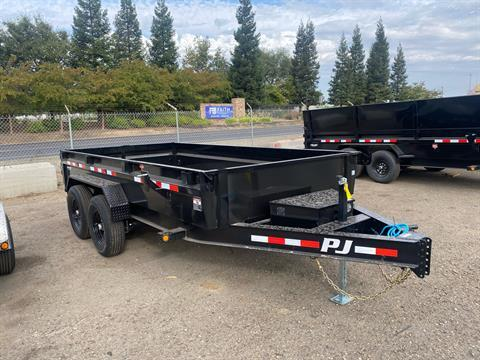 "2021 PJ Trailers 14' X 83"" LOW-PRO DUMP TRAILER in Acampo, California - Photo 1"