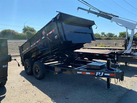 "2021 PJ Trailers 12' x 83"" Low Pro High Side Dump Trailer in Acampo, California - Photo 1"