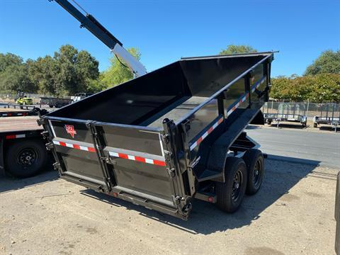 "2021 PJ Trailers 12' x 83"" Low Pro High Side Dump Trailer in Acampo, California - Photo 4"