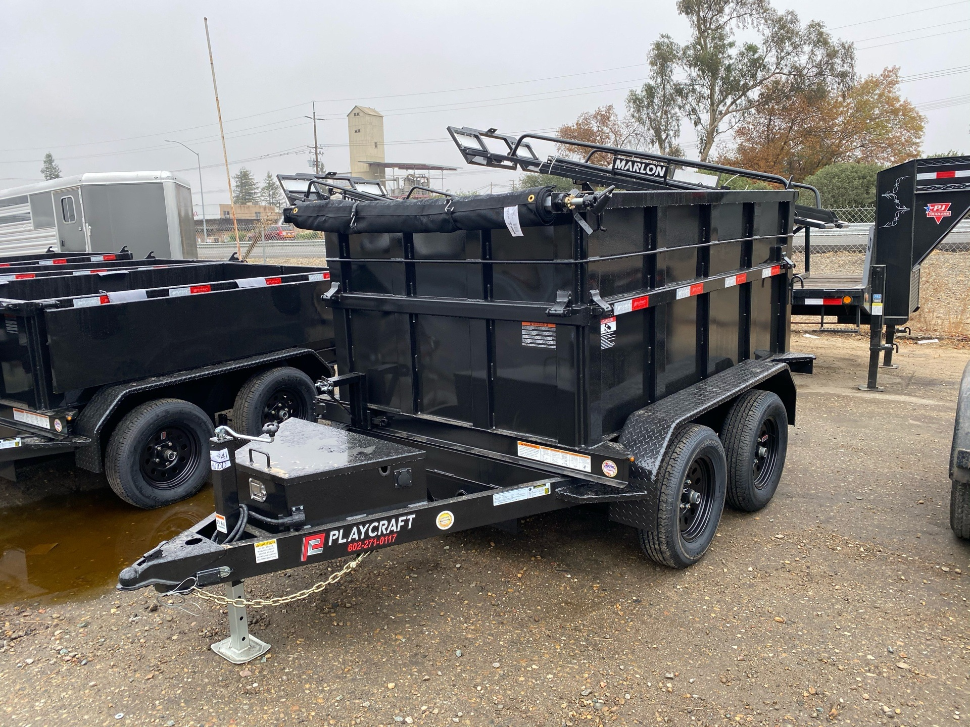 2021 Playcraft Trailers 8' X 5' Dump Trailer w/ Fold Down Sides in Acampo, California - Photo 1