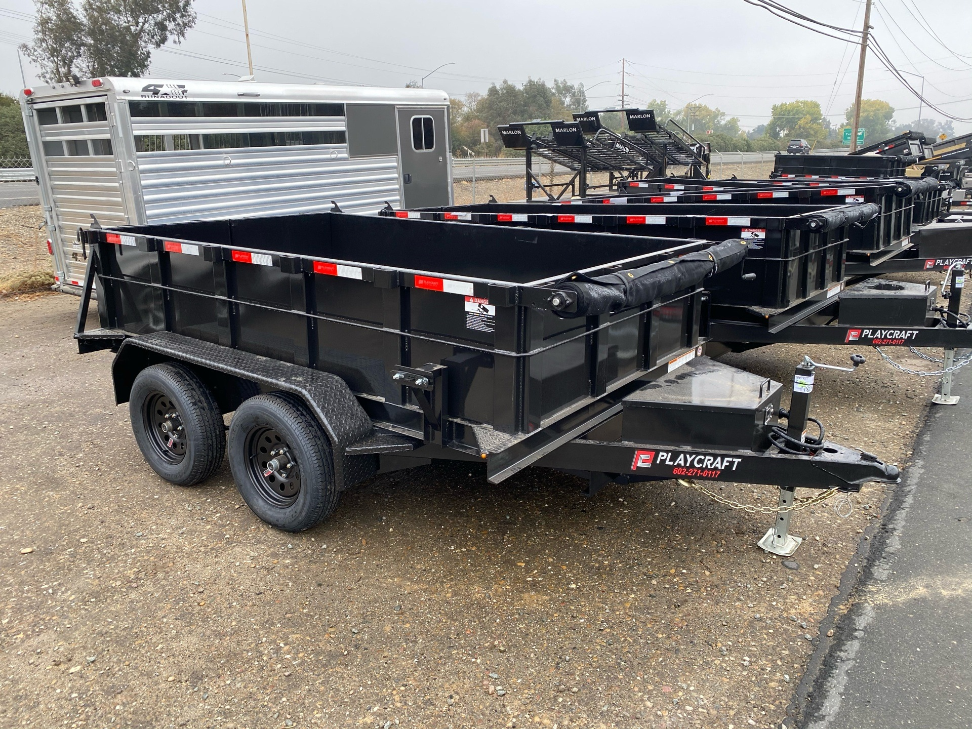 2021 Playcraft Trailers 10' x 6'  Dump Trailer in Acampo, California - Photo 4