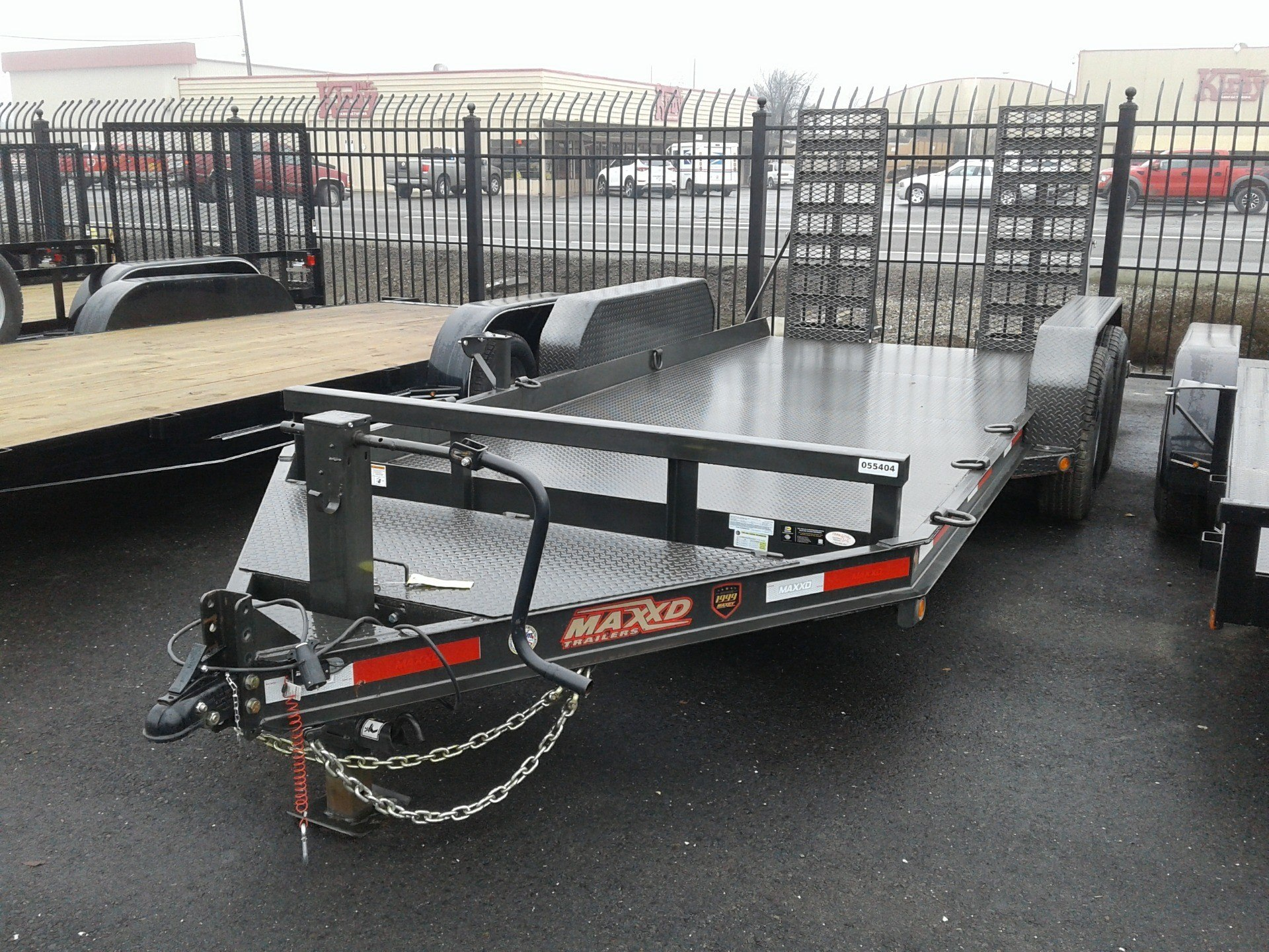 "2018 MAXEY TRAILERS 16' 6"" ANGLE SKID-STEER in Merced, California - Photo 2"