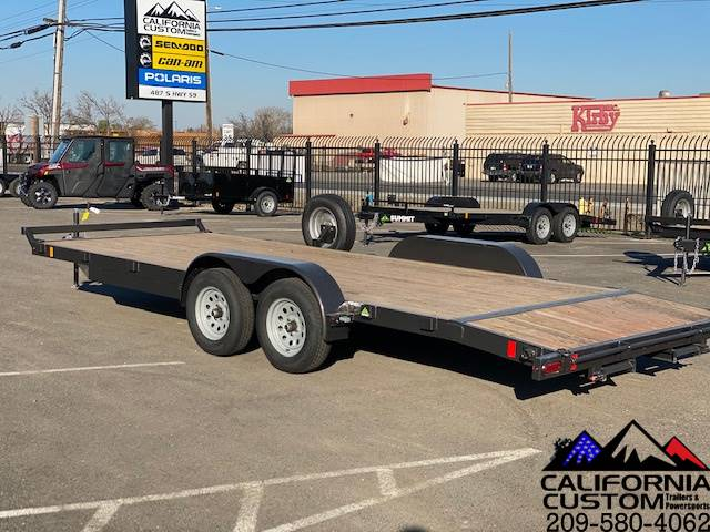 2021 SUMMIT TRAILER MFG 7' X 20' TA FLATBED 7K in Merced, California - Photo 3