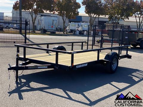 "2021 KARAVAN TRAILERS 13' X 82"" Steel Utility in Merced, California - Photo 1"
