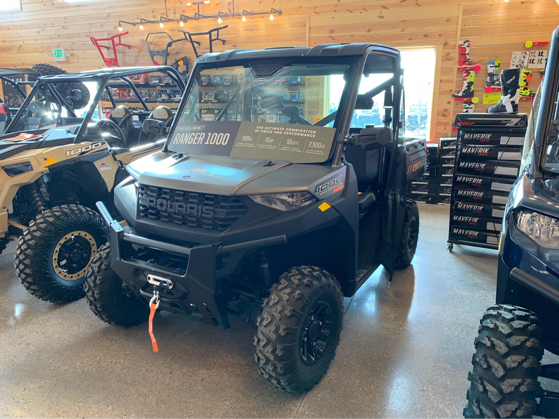 2020 Polaris Ranger 1000 Premium + Winter Prep Package in Attica, Indiana - Photo 2