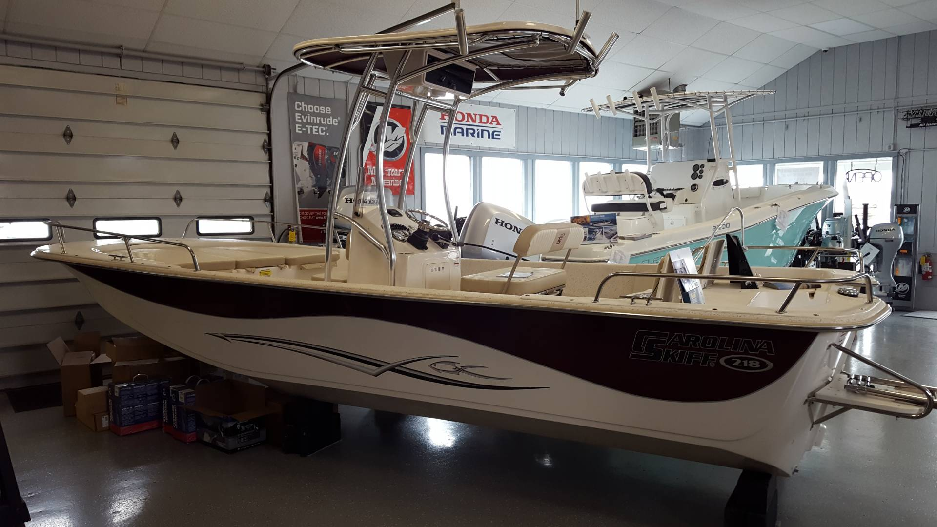 New 2019 Carolina Skiff 218 DLV CC PRE RIG Power Boats Outboard in
