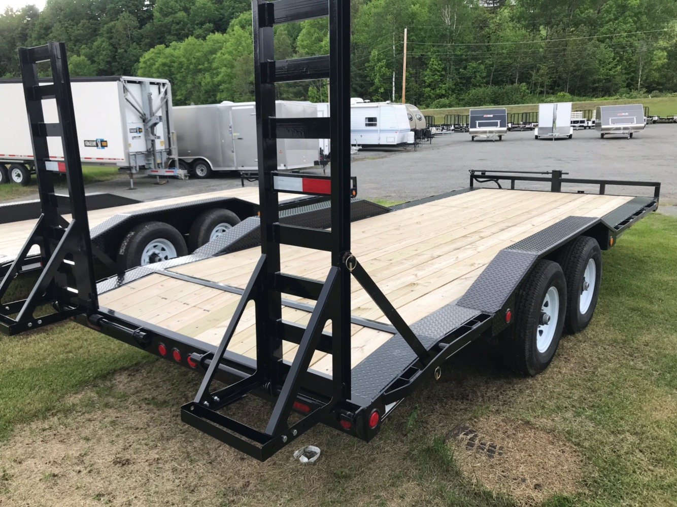 "2020 PJ Trailers PJ 20'X6"" 14K Super-Wide Equip Trailer in Saint Johnsbury, Vermont - Photo 2"