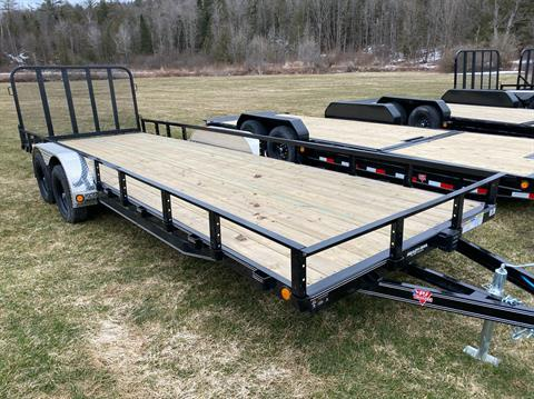 "2020 PJ Trailers PJ 22'X83"" Tandum Axle Channel Utility in Saint Johnsbury, Vermont - Photo 2"