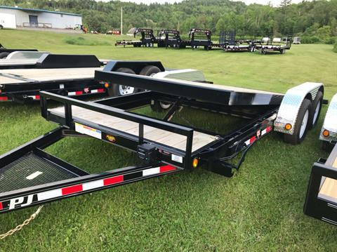 "2020 PJ Trailers PJ 18'X5"" 7K Carhauler Tilt in Saint Johnsbury, Vermont - Photo 1"