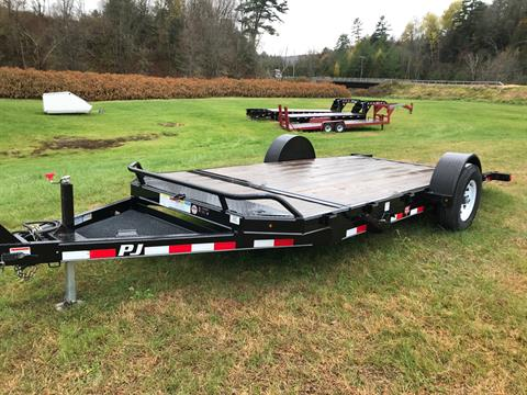 2018 PJ Trailers PJ 16' 7K  Single Axle Tilt Deck Trailer in Saint Johnsbury, Vermont - Photo 1