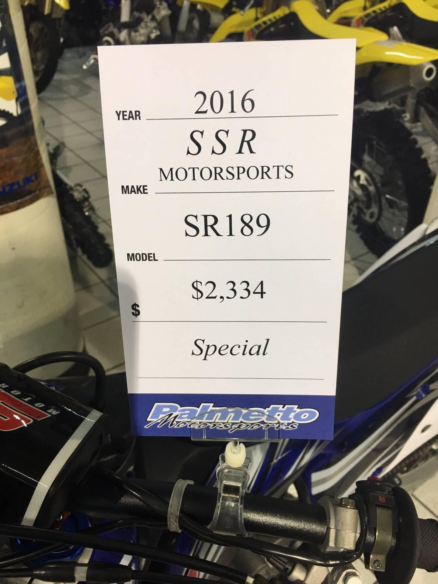 2016 SSR Motorsports SR189 in Hialeah, Florida