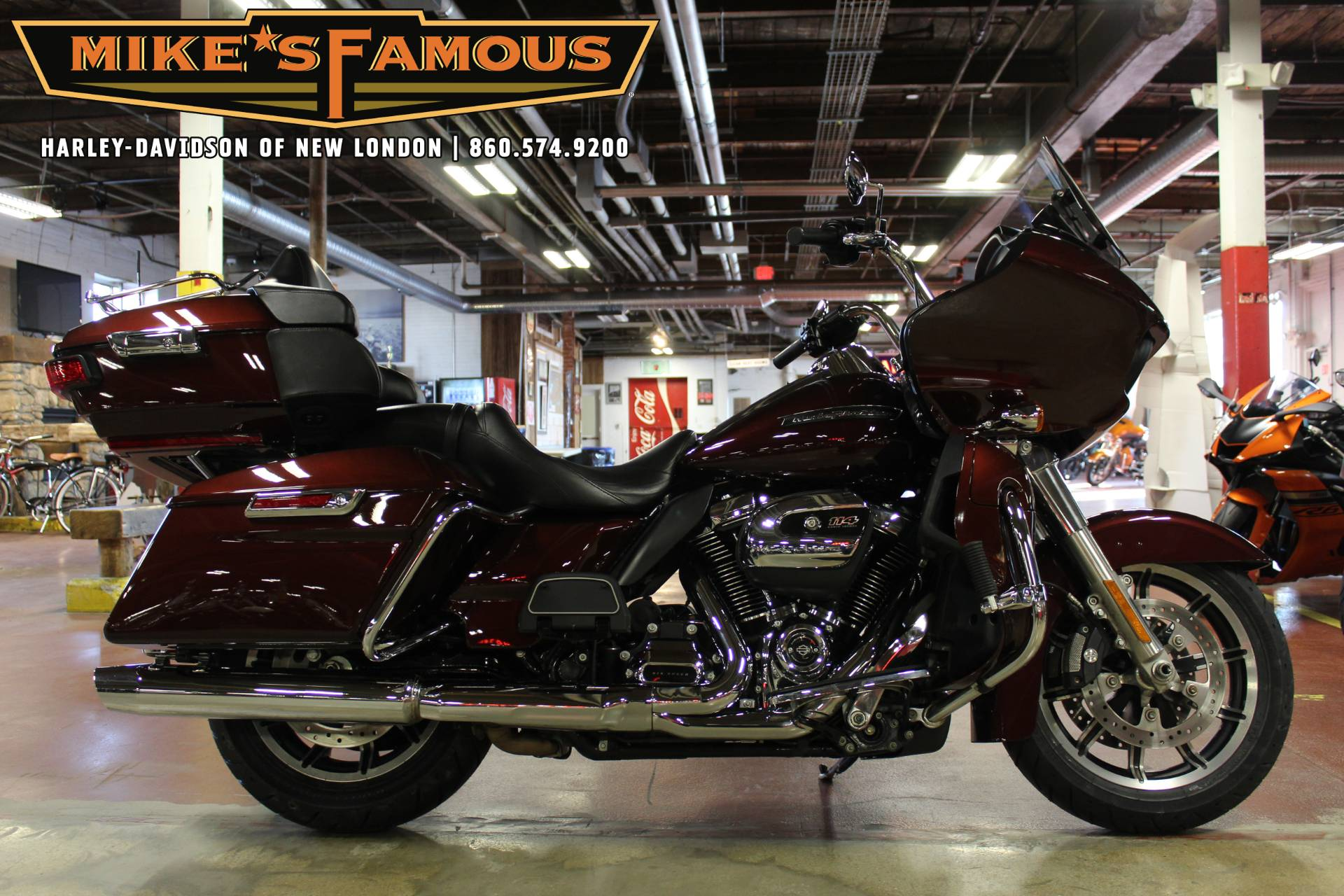 Used 2019 Harley Davidson Road Glide Ultra Twisted Cherry Motorcycles In New London Ct T49660