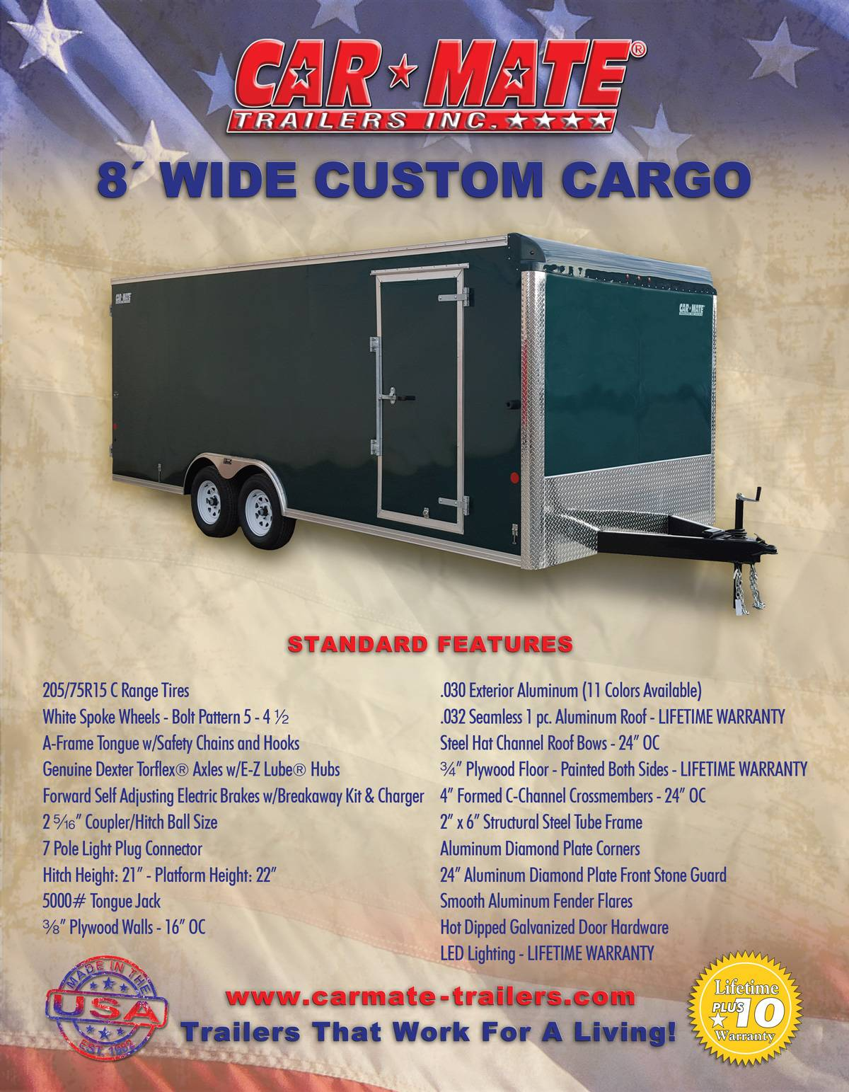 2020 Car Mate Trailers 8X20 Custom Car Hauler 10K ET+6 in Harrisburg, Pennsylvania - Photo 14