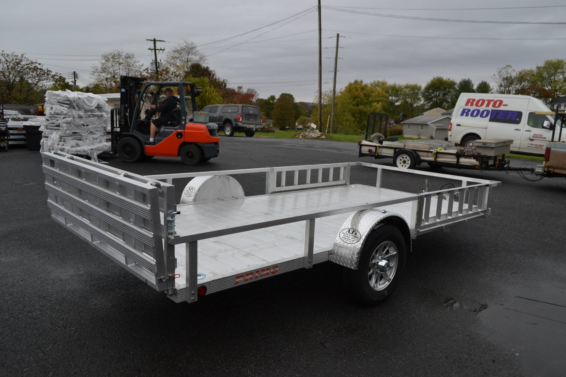 2021 Primo 82x12 Single Axle ATV Side Load ATV Ramps in Harrisburg, Pennsylvania - Photo 8
