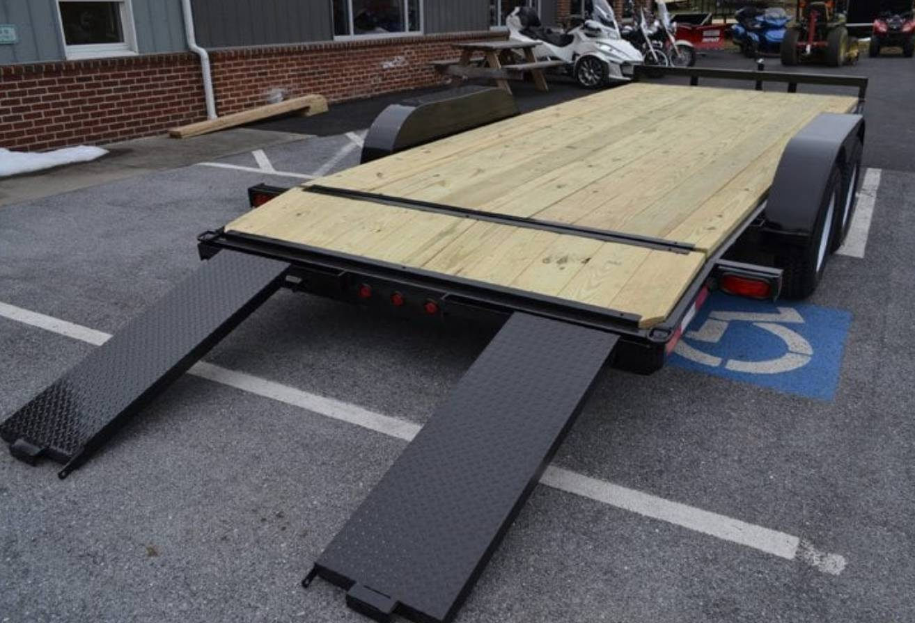 2019 TWF MFG 7X18 NNT Car Hauler Trailer 10K in Harrisburg, Pennsylvania - Photo 3