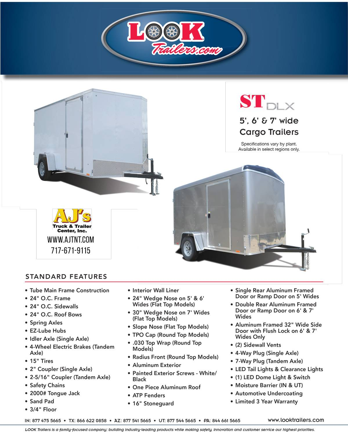 2020 Look Trailers 7X12 STDLX Cargo Trailer Double Door +6 in Harrisburg, Pennsylvania - Photo 16
